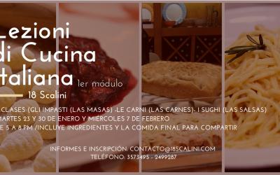 Clases de cocina italiana en 18 Scalini 2018
