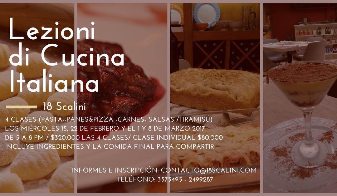 Clases de cocina italiana en 18 Scalini